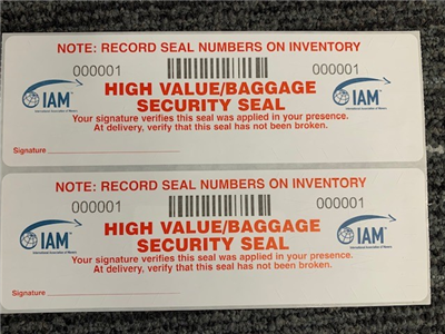 HIGH VALUE BAGGAGE SECURITY SEAL
