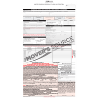 Household Goods Bill of Lading - Custom