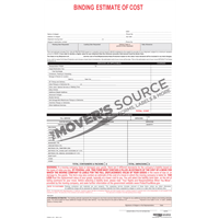 Binding Estimate of Cost - Custom