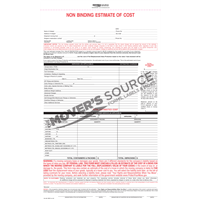 Non Binding Cost of Estimate - Custom