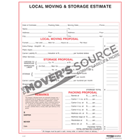 Local Moving and Storage Estimate