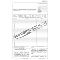 One Column Warehouse Receipt - .60